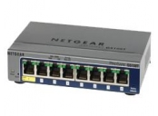 Netgear ProSafe 8-port Gigabit Smart Switch, PoE-PD (GS108Tv2) - GS108T