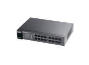 Zyxel GS1100-16, 16-port 10/100/1000Mbps Gigabit Ethernet switch, Fanless, 802.3az (Green), 19 rackmount