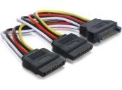 Power Adapter SATA 15-pin na 2xSATA 15-pin