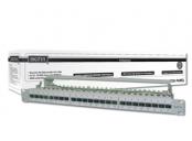 Digitus CAT 6A Patch Panel, stíněný, 1U, 24 portů, 8P8C, šedý, 483 mm (19 )