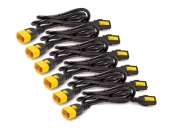 APC Power Cord Kit, ( 6ea) ,Locking,  10A, 100-230V, C13 to C14 1,2m