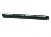 Digitus Patch Panel 19,CAT6,8P8C,LSA,1U,24 x RJ45, nestíněný,černý