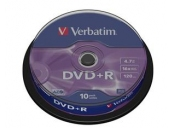 VERBATIM DVD+R AZO 4,7GB, 16x, spindle 10 ks