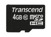 Transcend 4GB microSDHC (Class 10) paměťová karta (bez adaptéru)
