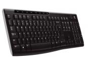 Logitech klávesnice Wireless Keyboard K270, CZ/SK, Unifying přijímač, černá