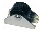 Kolečko pevné  dh-24mm černé