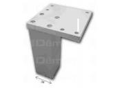 Nožka nábytková na972-100 mm hliník