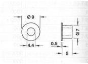 Distanční vložka cordia 5/7mm s osazením
